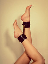 Coco de Mer Leather Ankle Cuffs