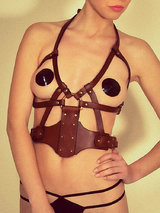 FLEET Ilya Leather Web Body Harness