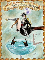 Andrea Kett A Jolly Good Roger Greeting Card