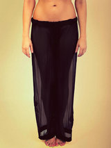 Steph Aman Full Bloom Embroidered Silk Tulle Trousers