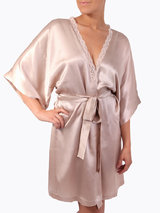 Stella McCartney Clara Whispering Short Silk Robe Summer