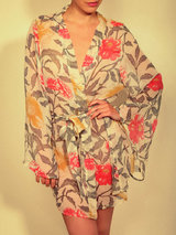 Beautiful Bottoms Tropic Short Silk Robe