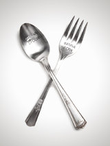 'Wanna Spoon, Wanna Fork' Silver Plated Cutlery Set