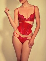 Sian Hoffman for Coco de Mer Disciplina PVC and Lace Waspie