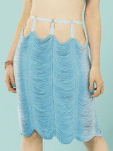 Made by Niki String Pencil Skirt in Azure Blue