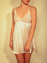 Stella McCartney Erin Wishing Silk Chemise Slip