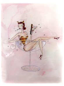 Andrea Kett Hot Pussy Greeting Card