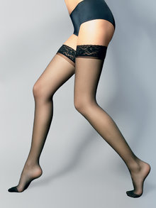 Veneziana Silvi Hold Ups with Lace Tops 15 Denier