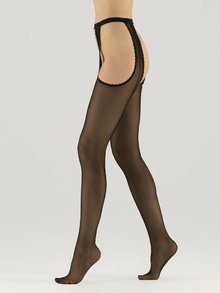 Veneziana Strippante Riga Garter Belt Tights 10 Denier