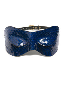 Paul Seville Blue Snakeskin Hooded Eyemask