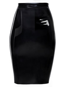 Coco de Mer Latex Skirt Black