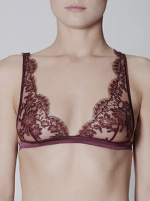 I.D. Sarrieri Triangle Bra Wine