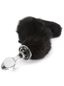 Crystal Delights Minx Tail Plug Black Fox