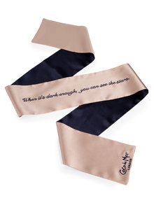 Coco de Mer 'See Stars' Embroidered Silk Blindfold