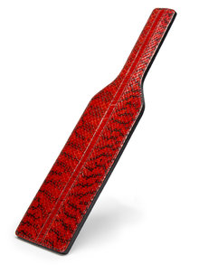 Paul Seville Red Snakeskin Square Paddle