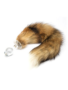 Crystal Delights Minx Real Fur Tail Plug Red Fox