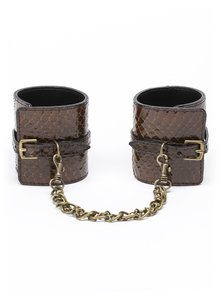 Paul Seville Brown Snakeskin Moulded Wrist Cuff