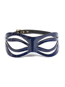 Paul Seville Blue Snakeskin Open Eye Moulded Mask
