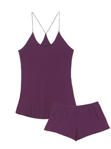 Bella Plum Camisole and French Knicker Set