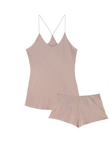 Bella Oyster Camisole and French Knicker Set