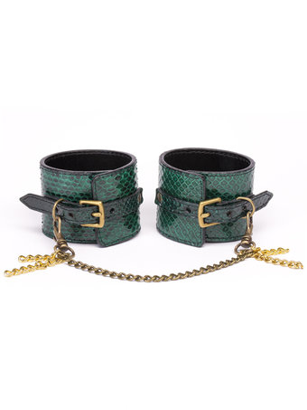 Paul Seville Green Snakeskin Wrist Cuffs