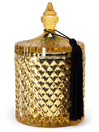 D.L. & Co Mercury Diamond Jar Candle - Golden Citrine