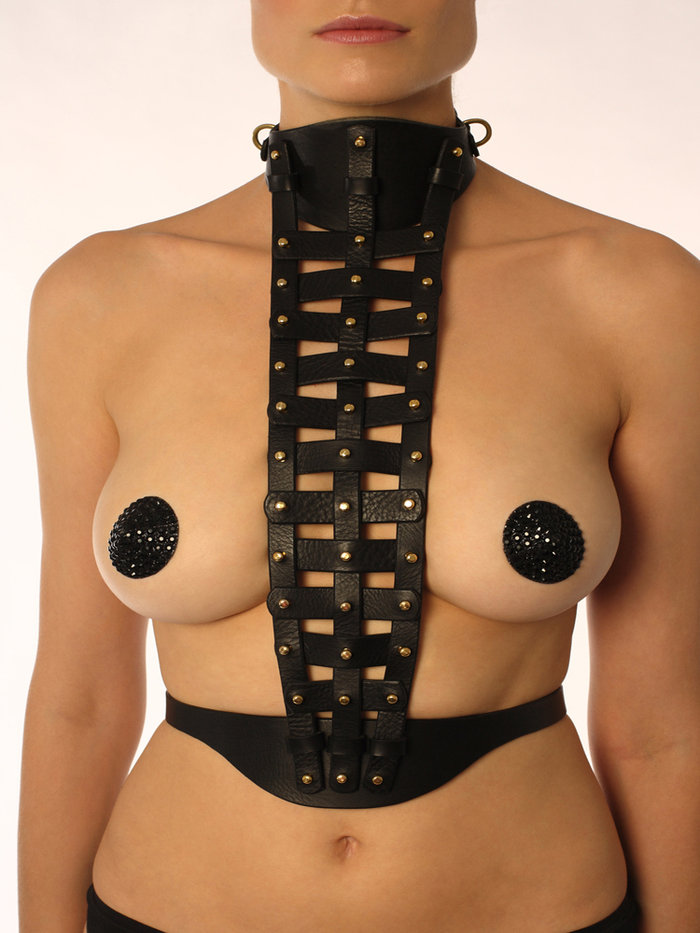 FLEET Ilya Leather Cage Harness