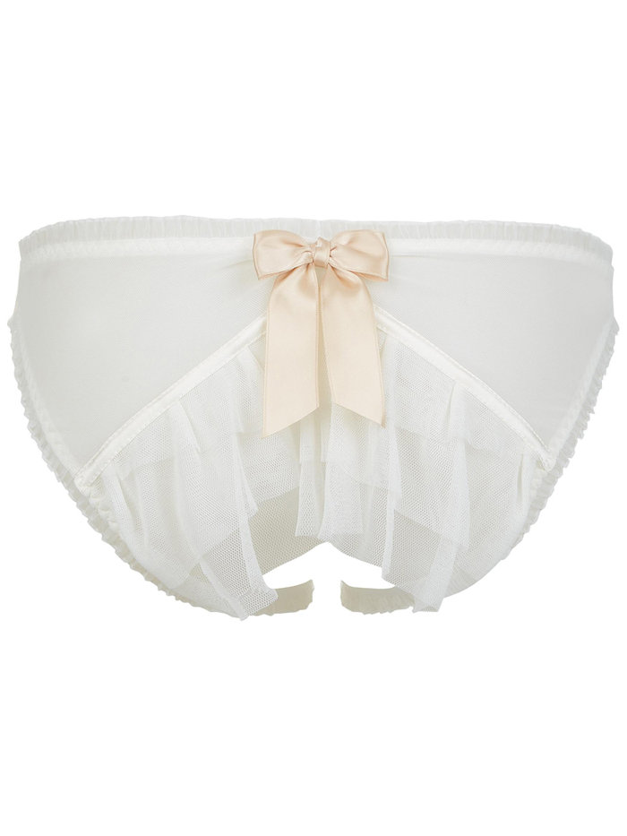 Lascivious Kitty Bridal Open Back Brief