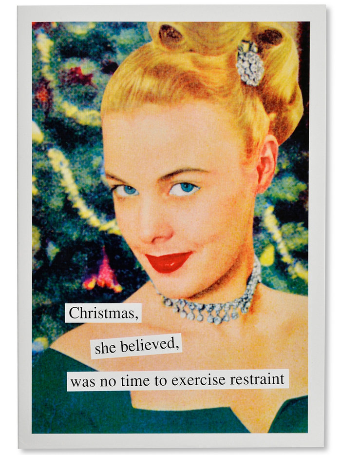 Exercise Restraint Naughty Christmas Card