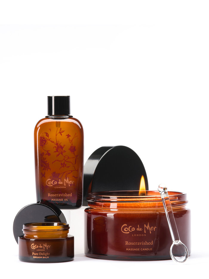 Coco de Mer Roseravished Erotic Massage Gift Set