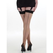 What Katie Did 15 Denier Nude Retro Contrast Seamed Stockings