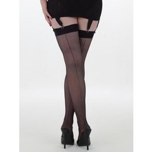 What Katie Did Metallic Silver Seamed Stockings