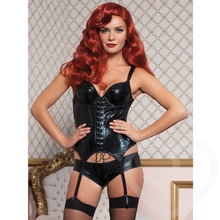Seven Til Midnight Indecent Desires Wet Look Bustier