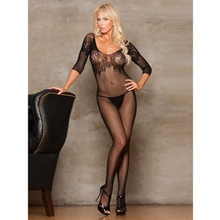 iCollection Fishnet Open Crotch Bodystocking