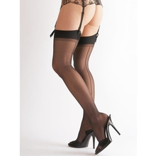 Cottelli Cuban Heel Back Seam Stockings