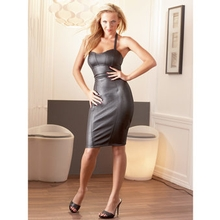 Cottelli Knee Length Faux Leather Mini Dress