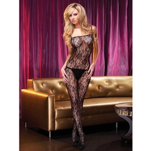Electric Sheer Bustier with Thigh High Stockings