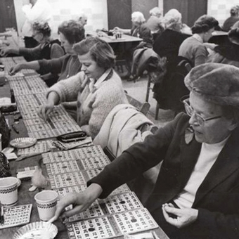 Retro bingo hall
