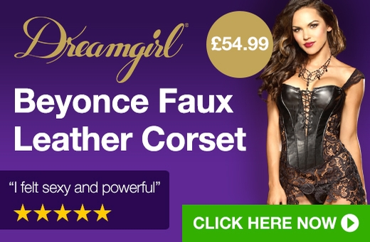 Dreamgirl Beyonce Faux Leather Corset
