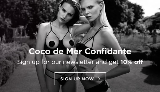 Coco de Mer confidante. Sign up to our newsletter and receive 10% off your next order