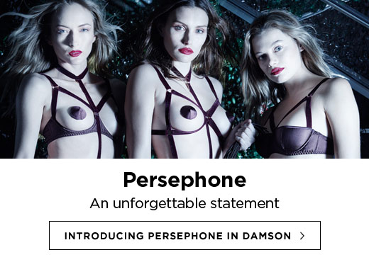 Coco de Mer AW16 Lingerie: Introducing Persephone in Damson