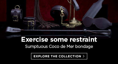 Exercise some restraint - sumptuous Coco de Mer bondage pieces in borwn leather and brass