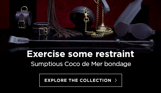 Exercise some restraint - Sumptuous Coco de Mer bondage pieces in brown leather and  brass