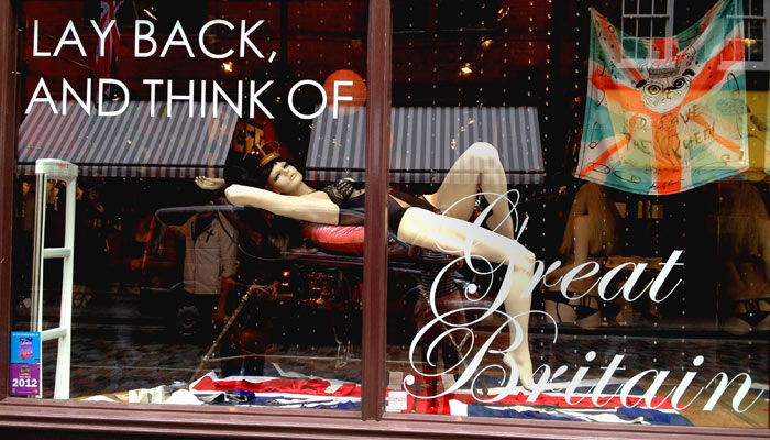 Lay back and think of Great Britain - the new Jubillee window display at Coco de Mer