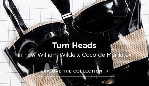 Turn heads in new William Wilde X Coco de Mer latexwear