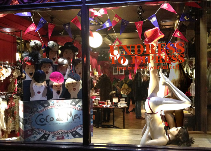 Coco de Mer London Fashion Week Window