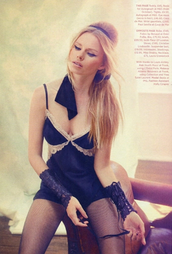 Paul Seville Leather Lace Gauntlets as seen in Cosmopolitan October 2012