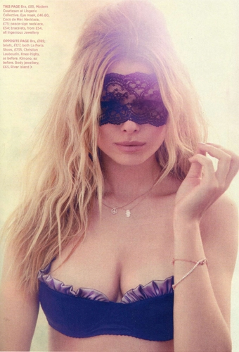 Coco de Mer Blindfold as featured in Cosmopolitan October 2012