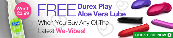 Get Durex Play Aloe Vera when you buy any of the latest We-Vibes
