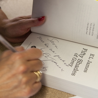 E L James Signed Book at Lovehoney